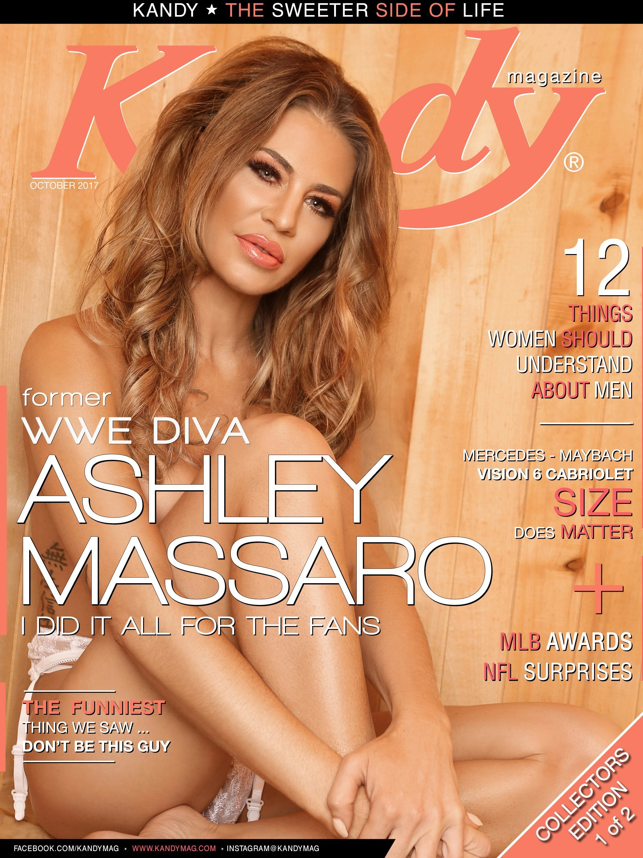 October 2017 Issue featuring former WWE Diva Ashley Massaro