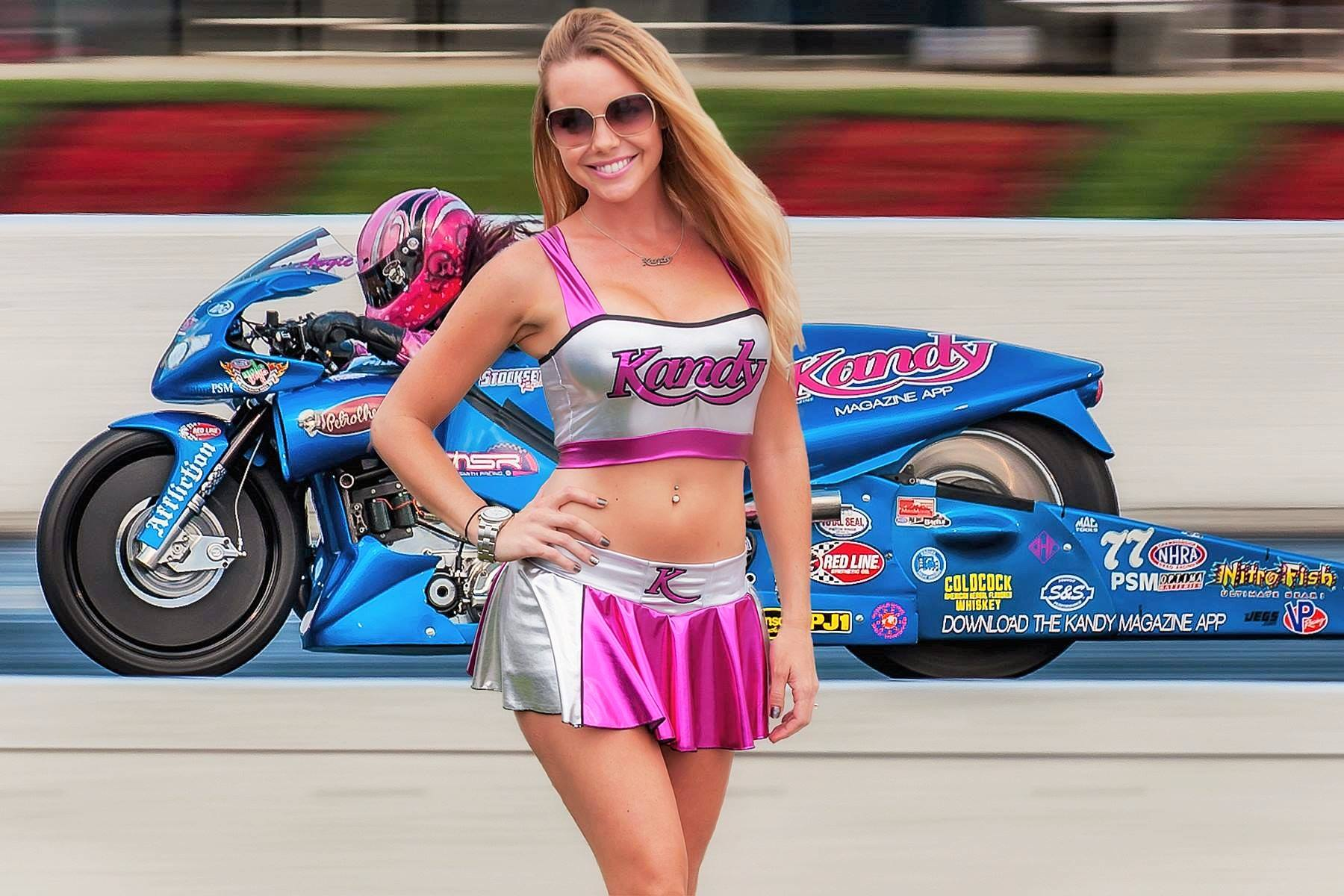 Angie Smith Laurie Young Kandy Girl NHRA